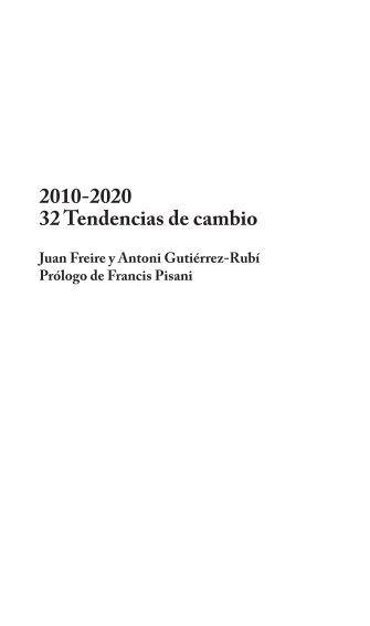 2010-2020 32 Tendencias de cambio - Antoni Gutiérrez-Rubí