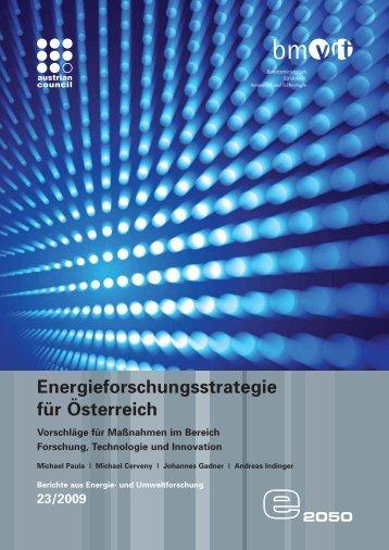 Energieforschungsstrategie für Österreich - Rat für Forschung und ...