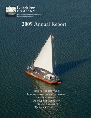 annual report 2009.indd - The Gundalow Company