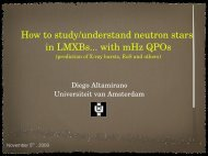 MilliHertz Oscillations from LMXB - HEASARC