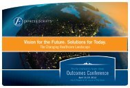 Outcomes Conference - Express Scripts