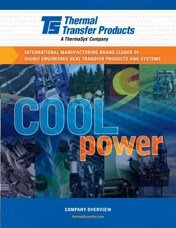 Thermal Transfer Products Company Overview Brochure - ThermaSys