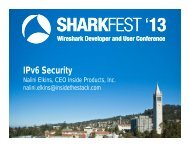 IPv6 Security - Sharkfest