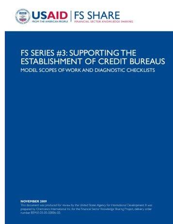 Credit Bureaus_MSOW_DIAG_CHECKLIST.pdf - Economic Growth ...