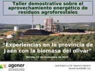 Experiencias en la provincia de Jaén con la biomasa del ... - Altercexa