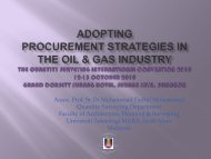 Procurement Strategies in the Oil and Gas Industry: Current Issues ...