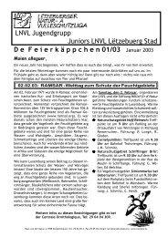 Mittwoch, 09. April 03 - Lëtzebuerger Natur- a Vulleschutzliga