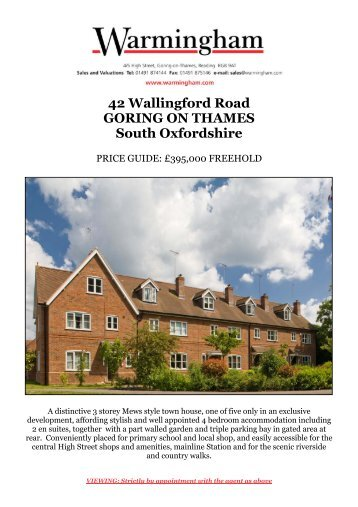 42 Wallingford Road GORING ON THAMES South ... - Warmingham