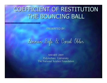 coefficient of restitution the bouncing ball - Mechatronics ...