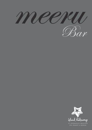 Meeru Bar Menu - Island Hideaway