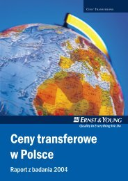 Ceny transferowe w Polsce - Ernst & Young