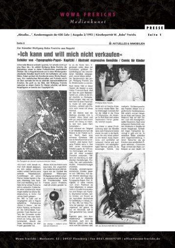"""""""Aktuelles…"""", Kundenmagazin der KSK Calw ... - WOWA Frerichs"""