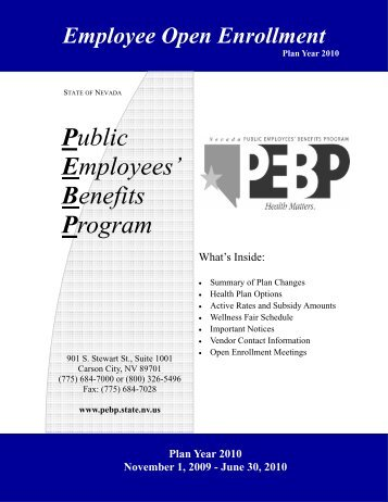 Public Employees' Benefits Program (PEBP) - Hometown Health