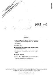1985 no9 - IREM de Grenoble
