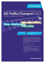 Trafffc&Transport 2012 - IIID Expert Forum Traffic Guiding Systems