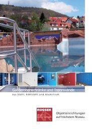 Garderobenschränke und Trennwände - Klaus Rossek GmbH