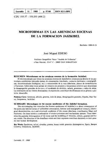 Microformas en las areniscas eocenas de la formación ... - ingeba