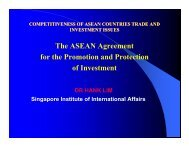 The ASEAN Agreement The ASEAN Agreement for the Promotion ...