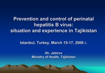 Prevention and control of perinatal hepatitis B virus - Viral Hepatitis ...