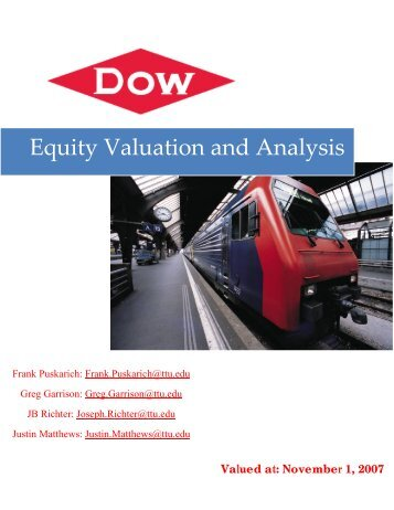 Equity Valuation and Analysis - Mark Moore