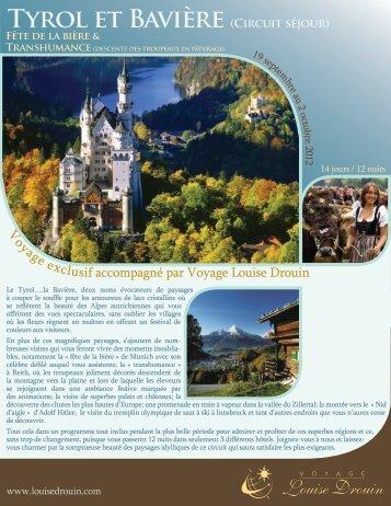 Tyrol et Bavière (Circuit séjour) - Agence voyage Louise Drouin
