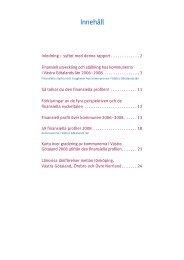 Övergripande finansiella jämförelser - Tanums kommun