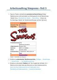Arbeitsauftrag Simpsons –Teil 3 - edumoodle