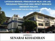 Lampiran 2 : Senarai Kehadiran - High Impact Research - Universiti ...