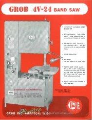 Grob 4V-24 Band Saw Brochure - Sterling Machinery