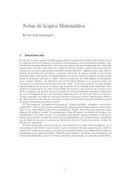 Notas de Lógica Matemática - FaMAF