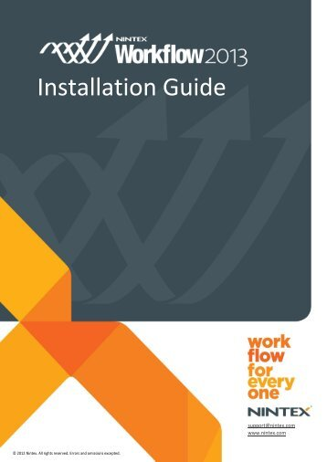 NW2013 - Installation Guide