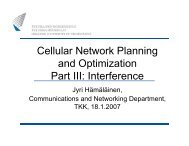 Cellular network planning and optimization part3