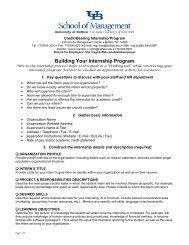 Building Your Internship Program - University at Buffalo School of ...