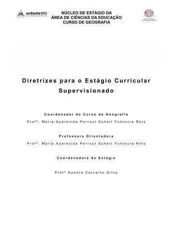 Diretrizes para o Estágio Curricular Supervisionado - Unileste