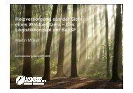 Holzversorgung aus der Sicht eines Waldbesitzers - KWF-Tagung