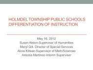 Differentiation of Instruction, PowerPoint Presentation ... - Holmdel