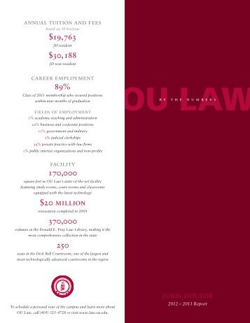 Download the Campus Profile PDF - OU College of Law - University ...