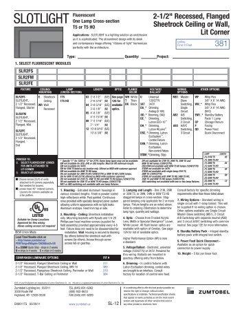 SLOTLIGHT - Architectural Lighting Associates (ALA, Inc.)