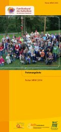 Download: Ferienprogramm 2014 - Pastorale Informationen