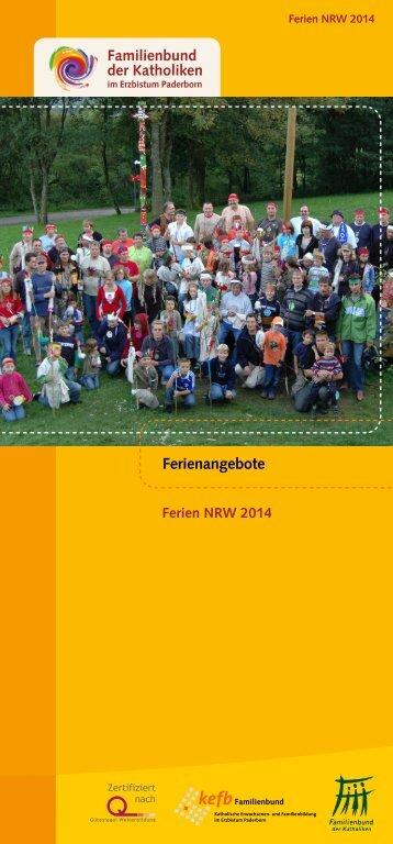 Download: Ferienprogramm 2014 - Pastorale Informationen