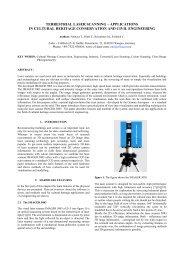 terrestrial laser scanning – applications in cultural heritage - ISPRS