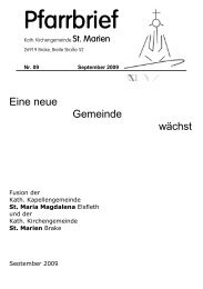 Pfarrbrief - Kath. Kirchengemeinde St. Marien in Brake