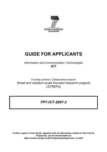 Guide for Applicants (Collaborative projects: Small and ... - ideal-ist