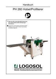 PH 260 Hobel/Profilierer - bei Logosol Deutschland