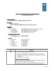 MINUTES OF SECOND PRE-QUALIFICATION ... - UNDP