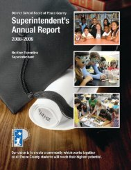Annual Report for 2008-2009 - Pasco County Schools