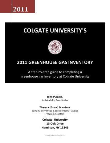Colgate University - ACUPCC Reports - Climate Commitment