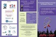 Clique aqui para ver o folder do evento - Sociedade Brasileira de ...