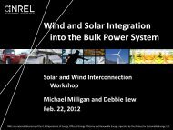 Wind and Solar Integration into the Bulk Power System