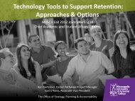 Technology Tools to Support Retention - Academic & Student Affairs